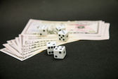 American dollars and dice  — Stock Photo