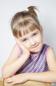 Portrait of a charming little girl — Stock Photo