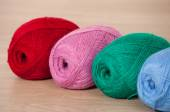Three skeins of yarn — Stock Photo