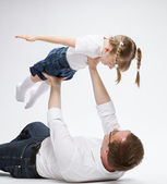 Father playing with his  daughter — Stock Photo