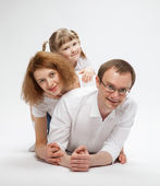 Happy mother ,father and daughter — Stock Photo