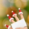 Hand holding clear New Year card — Stock Photo #64760053