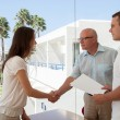 Business people shaking hands — Stock Photo #76132485