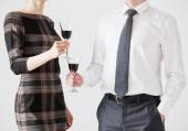 People holding goblets of wine — Stock Photo