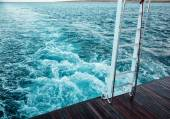 View from the yacht on water — Stock Photo