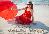 Woman resting on a beach — Stock Photo