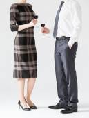People holding glasses of wine — Stock Photo