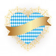 Bavaria flag as Heart icon — Stock Vector #54183283