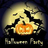 Carta zucca di halloween — Vettoriale Stock