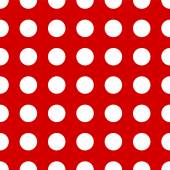 Big polka dots on red background — Stock Vector