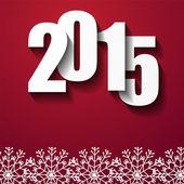 新的一年概念与 2015年数量 — 图库矢量图片