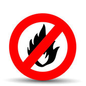 No fire vector sign — Stock Vector