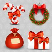 Zestaw wektorowe ikony Bożego Narodzenia — Wektor stockowy