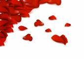 Fundo de rbackground de pétalas de rosa vermelhas. — Vetor de Stock