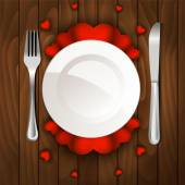 Valentine's day dinner  — Stock Vector