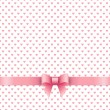 Cute background with pink ribbon — Stock Vector #63368505