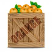 Oranges crate — Stock Vector