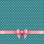 Cute background with pink ribbon — Vecteur