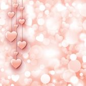 Background with beautiful pink hearts — Stockvektor