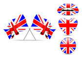 Set of England design over white background — Stock Vector