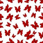 Бесшовный фон с бабочками — Cтоковый вектор