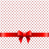 Background with red bow — Stockvektor