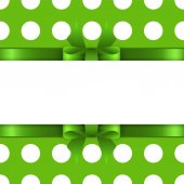 Background with green bow — Stock Vector