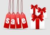 Christmas sale and gifts  — Stock Vector