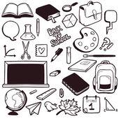 School elements — Stock Vector
