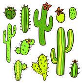 Hand drawn cactus plants — Stockvector