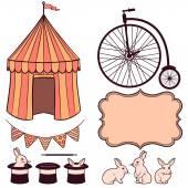 Circus decorative elements — Stock Vector