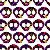 Pattern with human skulls. — Stockvector