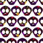 Pattern with human skulls. — Vector de stock