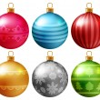 Christmas baubles set — Stock Vector #59237939