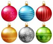 Christmas baubles set — Vector de stock