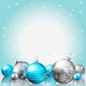 Pohlednice vánoční ozdoby — Stock vektor