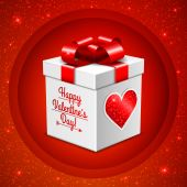 Gift box for Valentine's day — Stock Vector