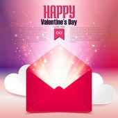 Valentine day postcard — Stock Vector