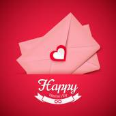 Valentine heart envelope — Stock Vector