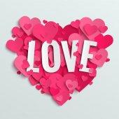 Valentine hearts postcard — Stok Vektör