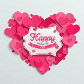 Valentine hearts postcard — Wektor stockowy