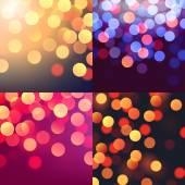 Blurred colorful bokeh lights — Stock Vector