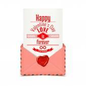 Valentine pink envelope — Stock Vector