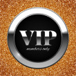 Gold and silver VIP icon — Stock Vector #65721625