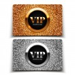 Gold and silver VIP cards — Stock Vector #65721659