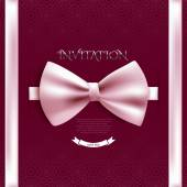 Card template with pink bow — Wektor stockowy