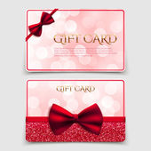 Gift cards with red bows — Stock Vector