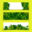 Saint Patricks Day banners — Stock Vector #66218617