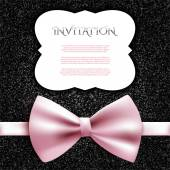 Invitation card with bow — Stock Vector