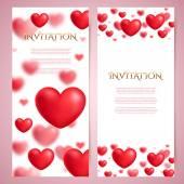 Romantic invitation card template — Stock Vector